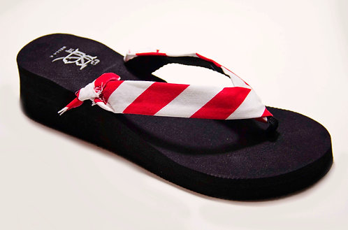 MADALYN (Oxford Stripe) Red/White