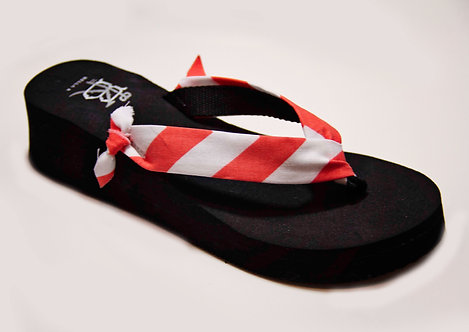 MADALYN (Oxford Stripe) Rouge/White