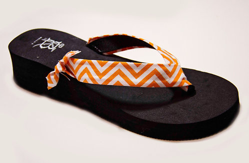 GEORGIA SLOANE (Chevron) Orange/White