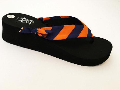 MADALYN (Oxford Stripe) Navy/Orange