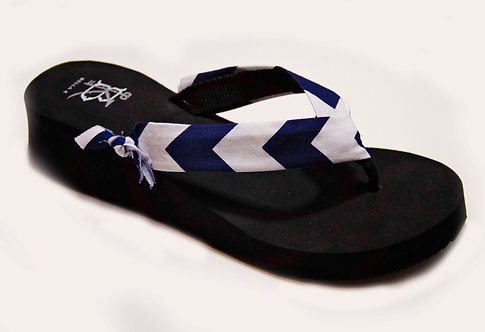MADALYN (Southern Prep) Navy/White