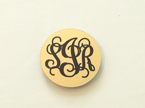 Custom Script or Block Monogram - Gold