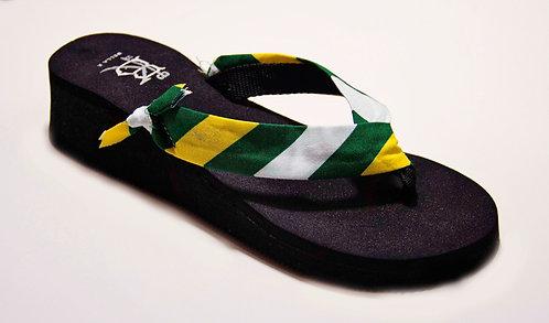 MADALYN (Oxford Stripe) Green/Yellow/White