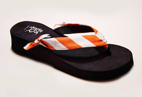 MADALYN (Oxford Stripe) Orange/White
