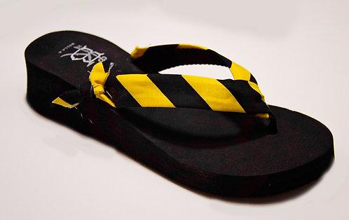 MADALYN (Oxford Stripe) Black/Yellow