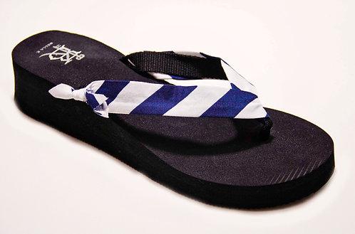 MADALYN (Oxford Stripe) Navy/White