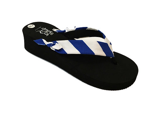 Madalyn (Oxford Stripe) Royal Blue/White