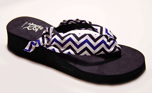 GEORGIA SLOANE (Chevron) Black/Purple/White