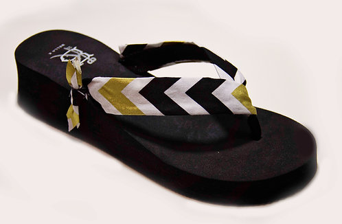 AVA (High Prep) Black/Metallic Gold/White)