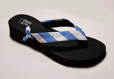 MADALYN (Oxford Stripe) Carolina Blue/White