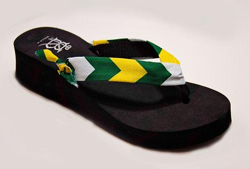 MADALYN (Southern Prep) Green/Yellow/White