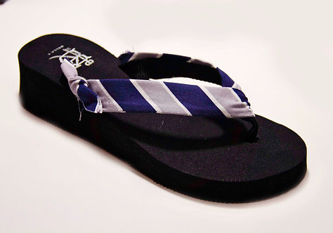 MADALYN (Oxford Stripe) Blue/Silver/White