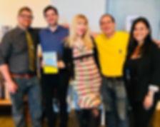 Springfield Confidential (left to right): Mathew Klickstein, Matthew Daddona (editor), Denise Reiss, Mike Reiss, Maria Silva (publicist)