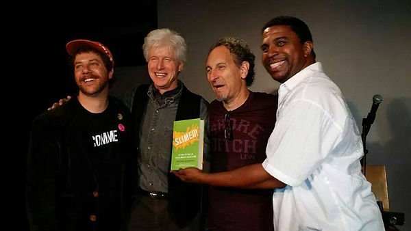 Mathew Klcktstein with Fred Newman and Dan Sawyer of Doug and Phil Moore hold
