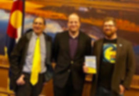 Mathew Klickstein Mike Reiss Governor Jared Polis Simpsons Colorado Springfield Colorado
