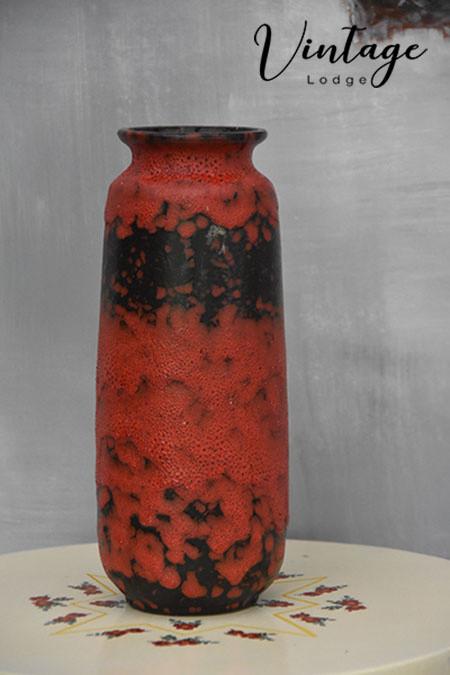 Rood/zwart West Germany vaas 206-30