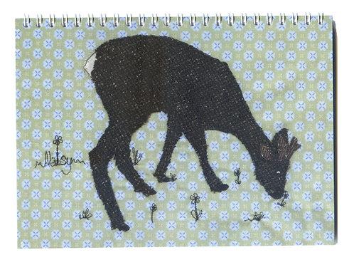 'Elevenses' Deer Nibbling Grass Notebook