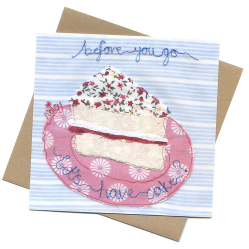 'Let's Have Cake' Textile Art Card