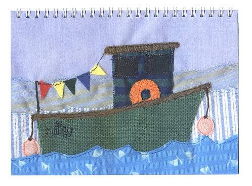 'The Old Fishing Boat' Textile Art Notebook