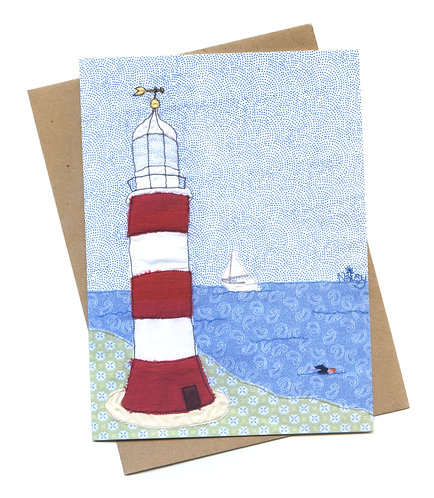 'Smeatons Tower' Plymouth Lighthouse Greeting Card