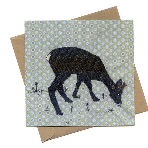 'Elevenses' Deer Greeting Card