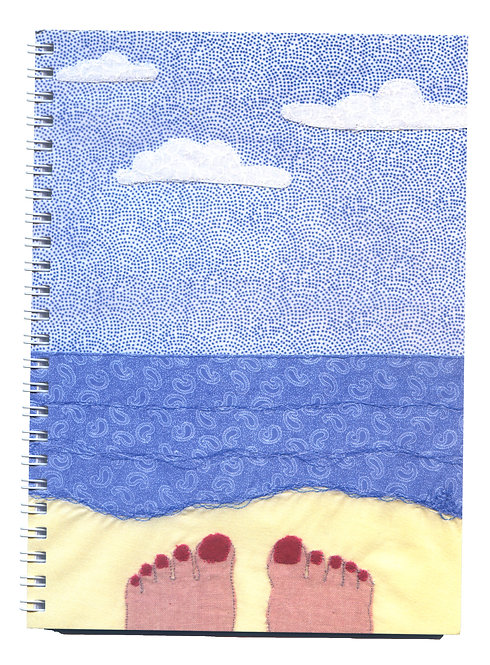 Sandy Toes Seaside Textile Art Notebook