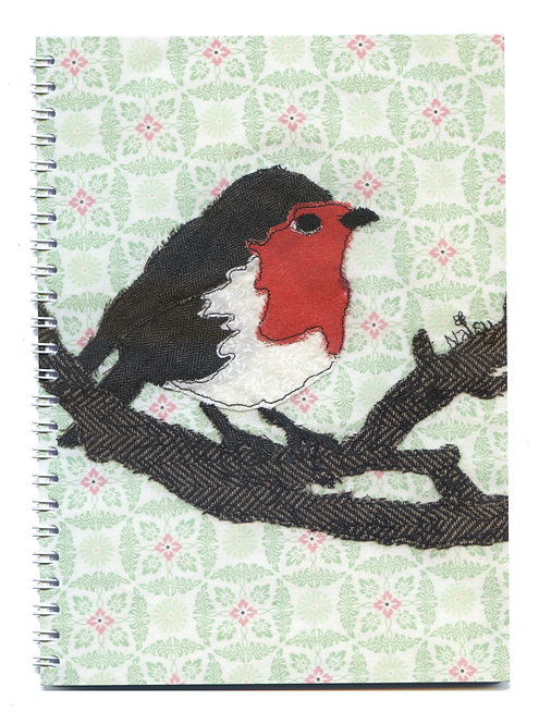 'Whistling Day' Robin Notebook