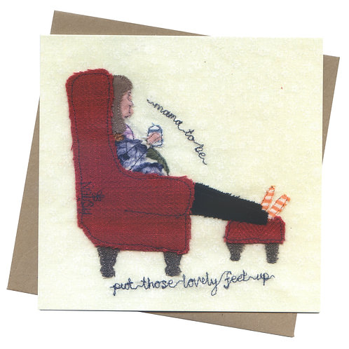 'Mama To Be' Feet Up Greeting Card