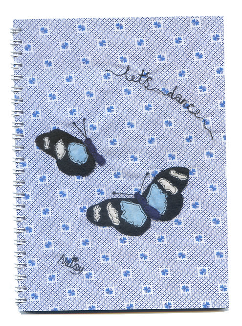 'Let's Dance' Blue Butterfly Notebook