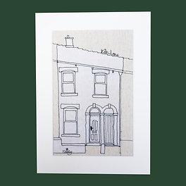 Thread Sketch House Illustration (Bespoke)