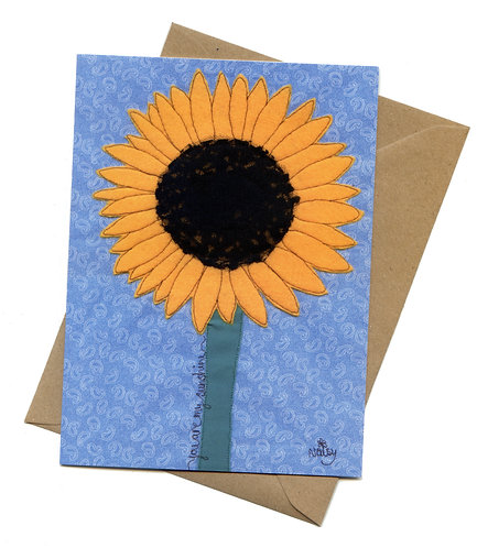 'You Are My Sunshine' Sunflower Greeting Card