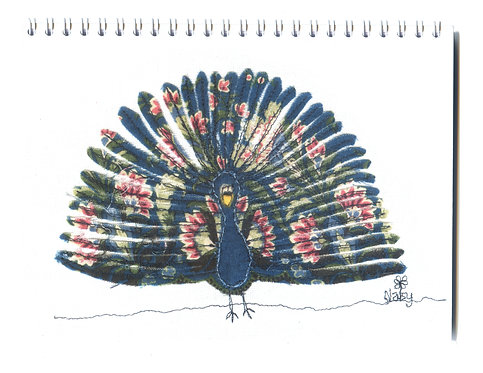 'Party Trick' Peacock Feather Display Notebook