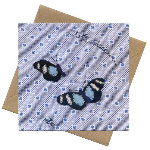 'Let's Dance' Butterflies Greeting Card
