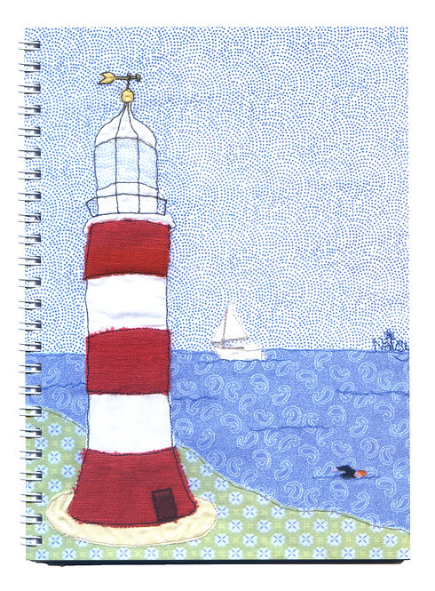 Smeaton's Tower Plymouth Lighthouse Art Notebook