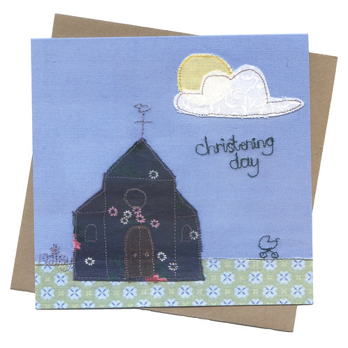 'Christening Day' Embroidered Greeting Card