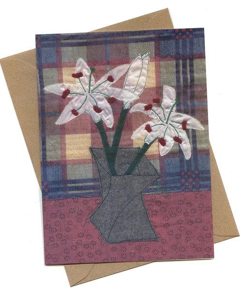 'Lilies' Greeting Card