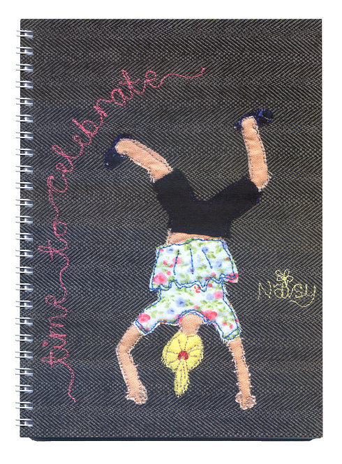 'Time To Celebrate' Cartwheel Textile Art Notebook