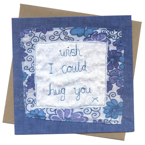 Wish I Could Hug You Sympathy Card