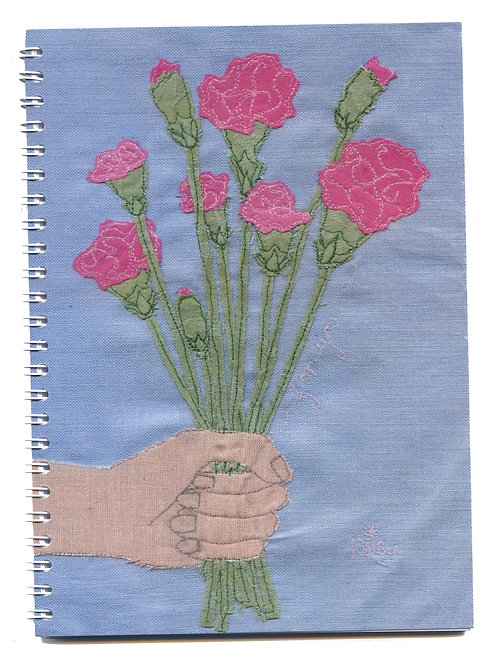 'Picked Just For You' Pink Carnations Notebook