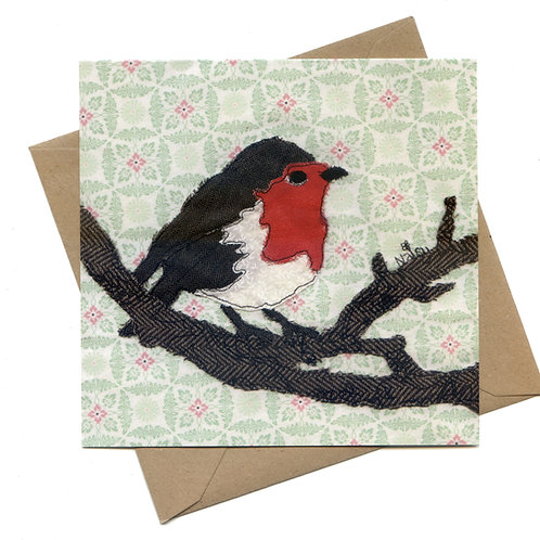 'Whistling Day' Robin Greeting Card