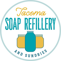 Tacoma Soap Refillery and Sundries Icon (two yellow jars + one blue bottle)