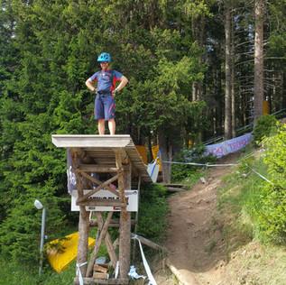 Auf der Strecke des Lenzerheide Downhill WC