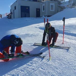Beim Ski Test