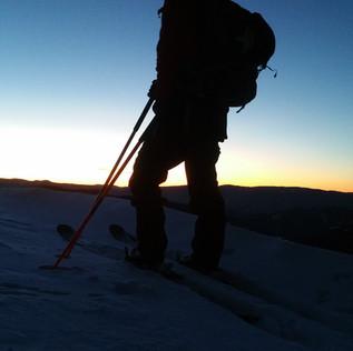 Ski Tour am Morgen