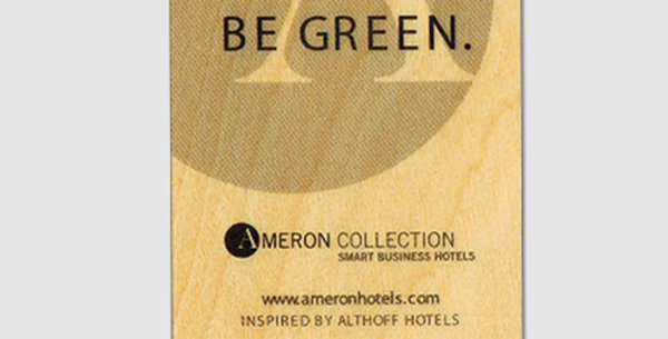 Hotel wooden card