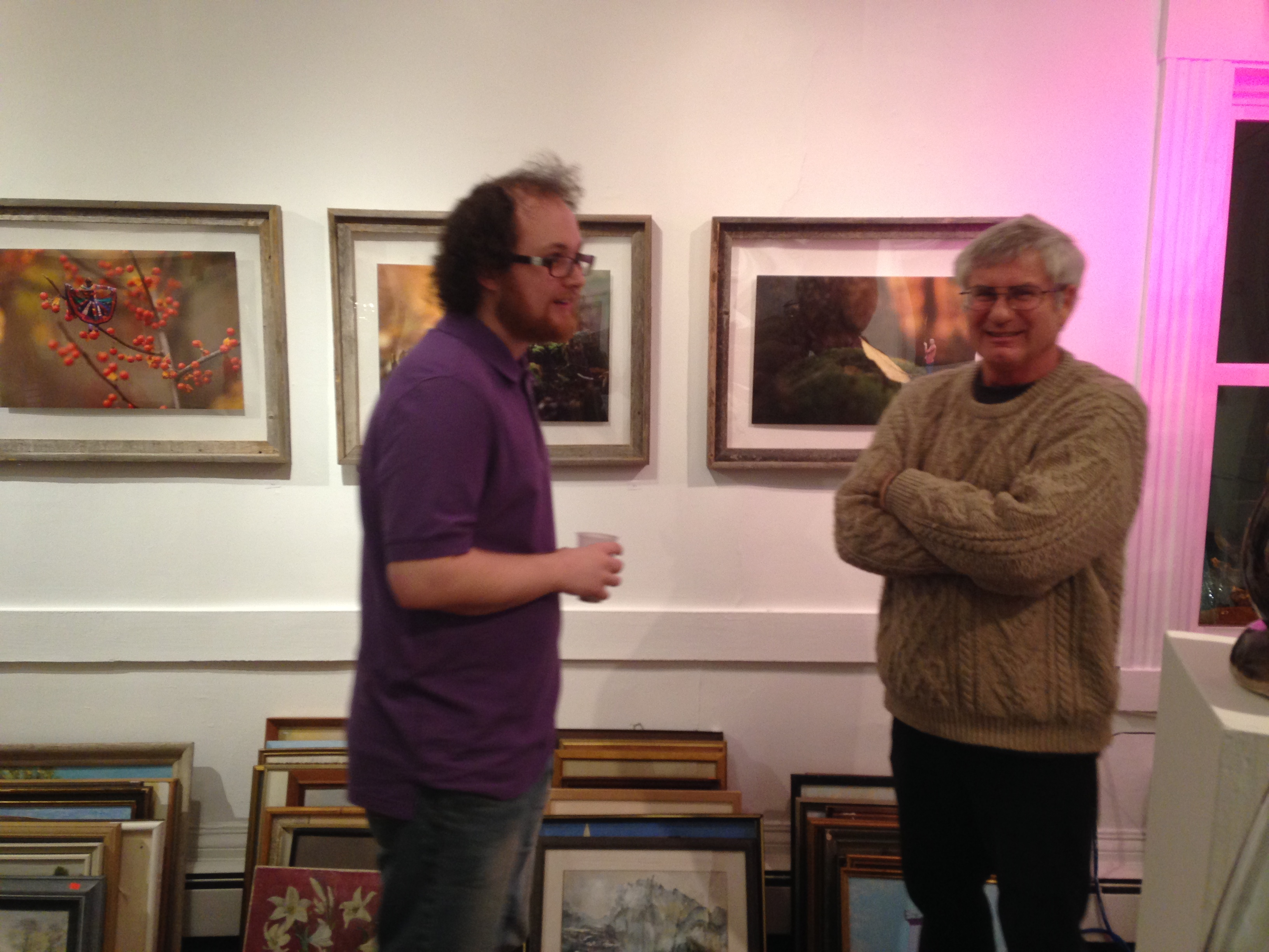 Owner of Yak Arts, Bob (Right)