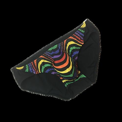 Rainbow Wave Slim Trunks Bikini