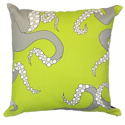Octopus Throw Pillow in Chartreuse
