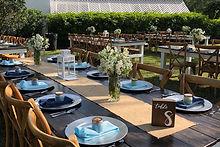 Custom Table Setting Outdoor Wedding