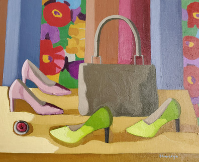 Lime Shoes and Pink Shoes